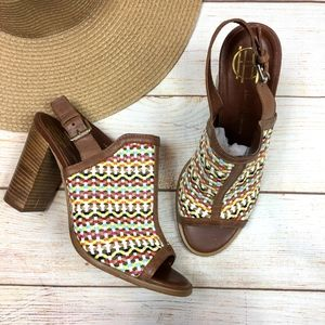 House of Harlow Teagan woven leather sandals 40